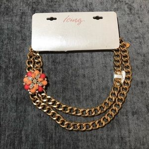 Icing Flower Statement Necklace NWT